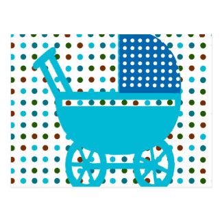 Baby JUNGE BLAUER Wagen-Entwurfs-angesagte Postkarte