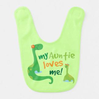 Baby-Jungen-Dinosaurier-Schellfisch Tanten-Loves Lätzchen