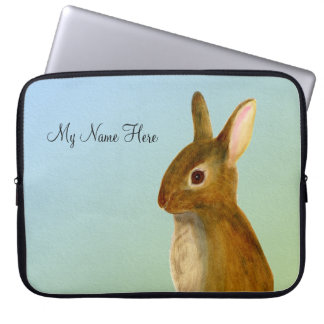 Baby-Kaninchen-Aquarell-Malerei-Tier-Grafik Laptopschutzhülle