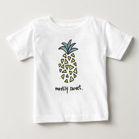 "Baby-/Kinder""größtenteils süßes"" Ananas-T-Stück Baby T-shirt"