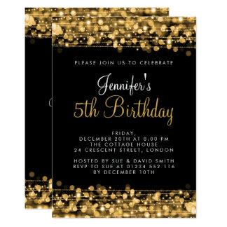 Baby-/Kindergeburtstag-Party-Glitzern-Gold Karte