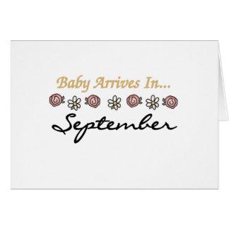 Baby kommt im September an Karte