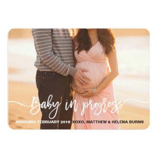 Baby-laufende Mitteilung 12,7 X 17,8 Cm Einladungskarte