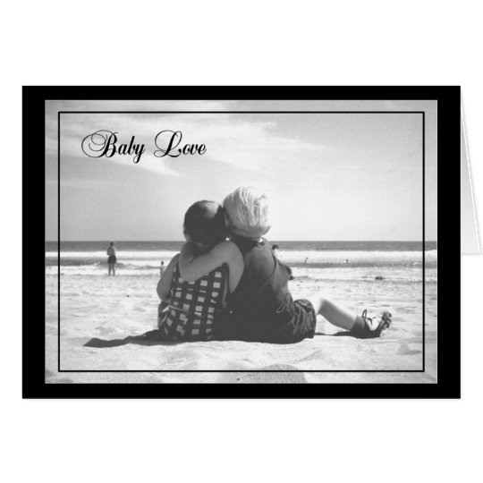 Baby-Liebe-LEERE Karte