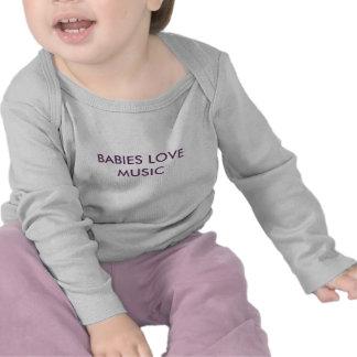 Baby-Liebe-Musik-Spitze T Shirts