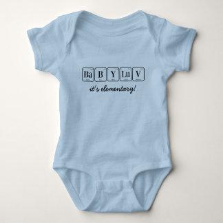 BABY LUV: es ist grundlegend!  (Periodensystem) Baby Strampler