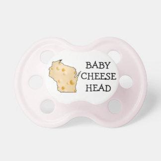 Baby-Mädchen Cheesehead Wisconsin Schnuller