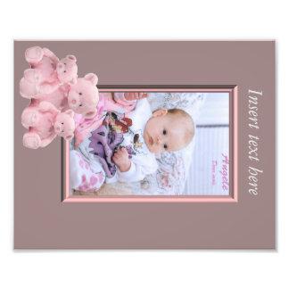 Baby-Mädchen-Fotorahmeneinsatz Photodrucke