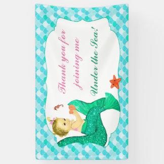 Baby-Meerjungfrau-Schwanz-Rosa-aquamarine Fahne Banner