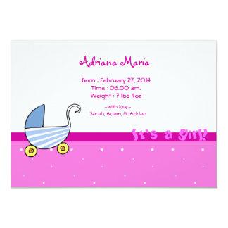 Baby-Mitteilung 12,7 X 17,8 Cm Einladungskarte