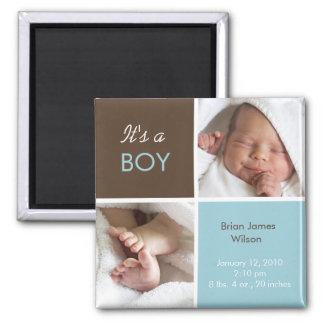 Baby-Mitteilungsmagnet Quadratischer Magnet