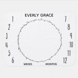 Baby-Monats-Foto-Stütze-Hintergrund-Decke Babydecke