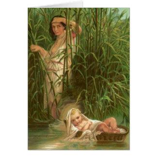 Baby Moses und der Fluss Nil Karte