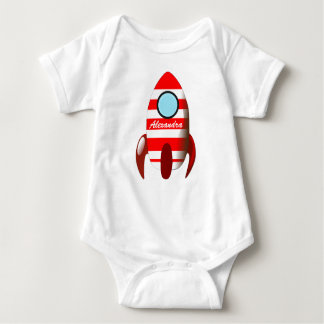 Baby Name on Space Rocket
