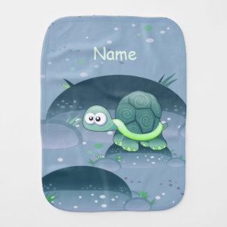 Baby-Namensschildkröteniedlicher Baby Spucktuch