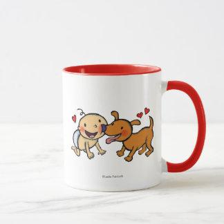 Baby-Nasen-Küsse vom Hund Tasse