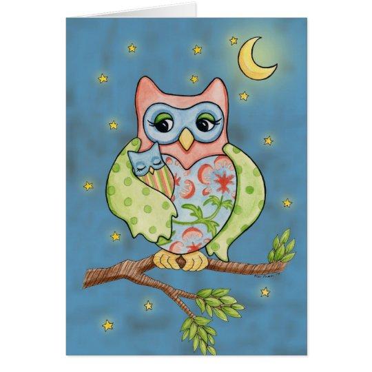 Baby-Owlet- und Mutterowl Karte