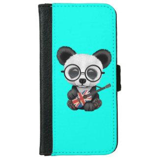 Baby-Panda, der britische Flaggen-Gitarre spielt iPhone 6/6s Geldbeutel Hülle