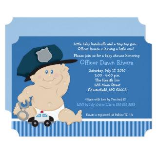 Baby-Polizist-Polizei-Offizier-Karten-Baby-Dusche Karte