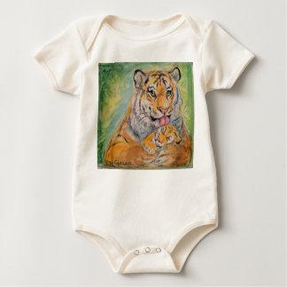 Baby-Pullover mit Tigern Baby Strampler