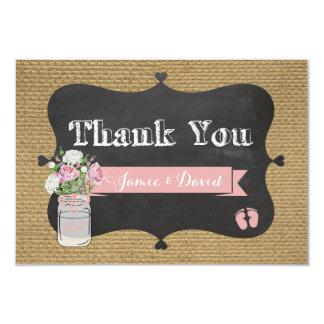 Baby-q Duschen-Leinwand-Weckglas danken Ihnen zu Karte