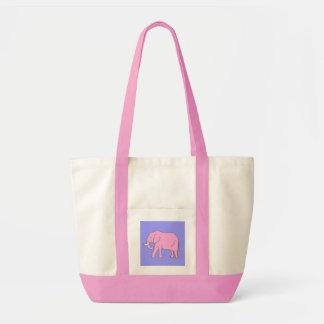 Baby-rosa Elefant-Gehen Tragetasche