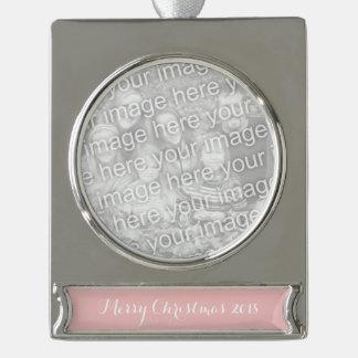 Baby-Rosa-Normallack fertigen es besonders an Banner-Ornament Silber