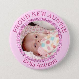 Baby-rosa stolze Tante Button