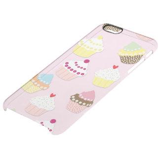 Baby-Rosa-Valentinsgruß-Schalen-Kuchen Durchsichtige iPhone 6 Plus Hülle