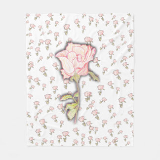 Baby-Rosen-Fleece-Decke Fleecedecke