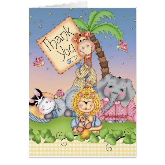 Baby-Safari Mitteilungskarte