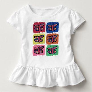Baby-Schmetterlings-Rüsche-T-Stück Kleinkind T-shirt