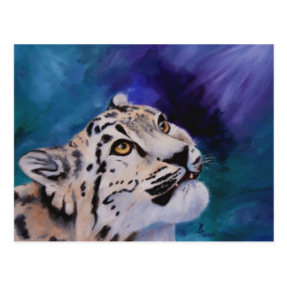 Baby-Schnee-Leopard-Postkarte Postkarte