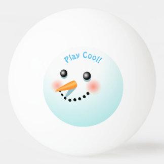 Baby-Schneemann mit rosigen Backen Tischtennis Ball
