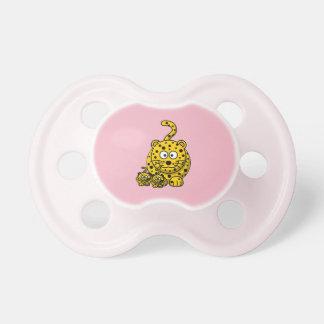 Baby-Schnuller mit Jaguarrosafarbe Schnuller