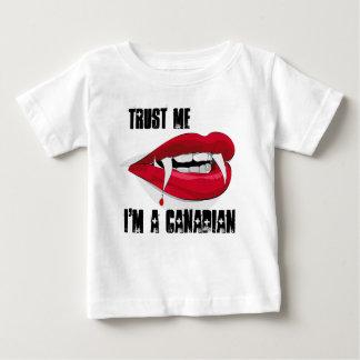 Baby-Shirt vertrauen, dass ich ich ein kanadischer Baby T-shirt