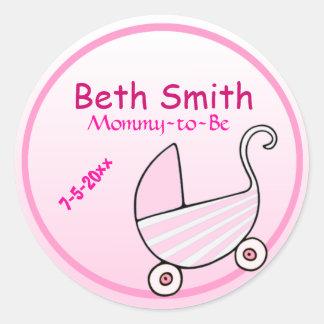 Baby shower de boguet de bébé sticker rond