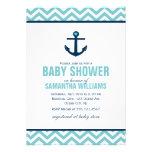 Baby shower nautique d'ancre et de chevrons {bleu} bristols