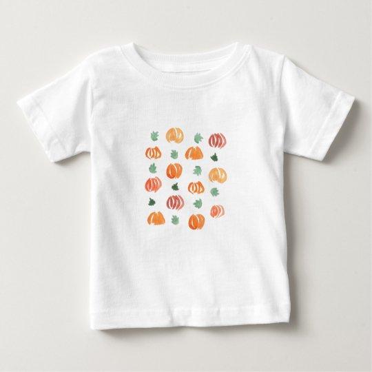 Baby-T - Shirt mit Kürbisen und Blätter