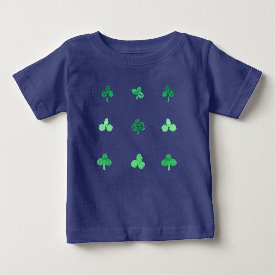 Baby-T - Shirt mit neun Klee-Blätter