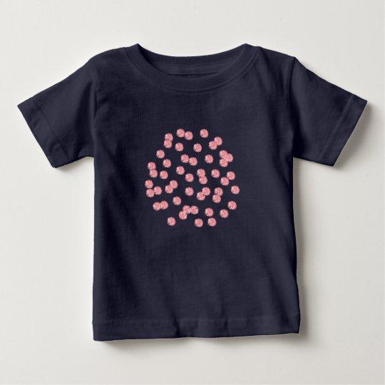 Baby-T - Shirt mit roten Polkapunkten