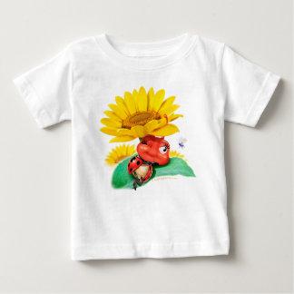 Baby-T-Shirt schläfriger Marienkäfer/schläfriger Baby T-shirt