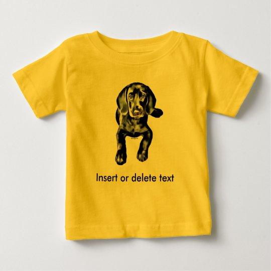Baby-T - Shirtschwarz-Labradorwelpe Baby T-shirt
