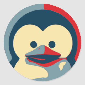 Baby Tux Linux Runder Aufkleber