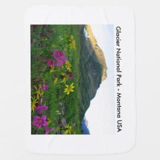 Baby-umfassende Gletscher-Nationalpark-Wildblumen Babydecken