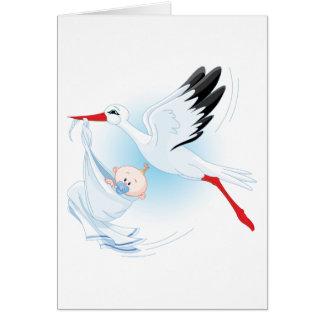 Baby und Storch Karte