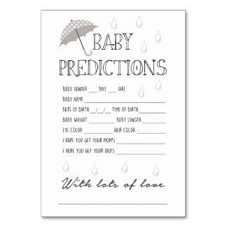Baby-Vorhersage-Spiel für Babyparty Karte