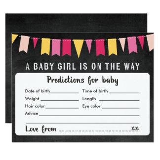 Baby-Vorhersage-Tafel-Babyparty-Spiel-Karte Karte