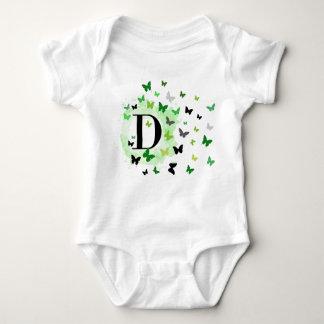 Babyausstattung des Buchstaben D Baby Strampler