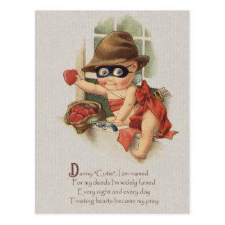 Babybandit, der Herzen CC0862 Danny Süsse stiehlt Postkarte